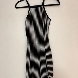 black and white striped Body Con tank dress